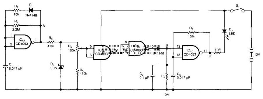 Low-Battery Detector - schematic