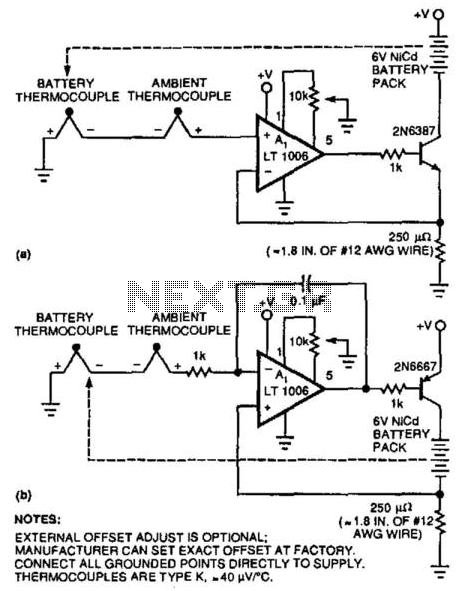Battery-Temperature Sensing Nicad Charger - schematic