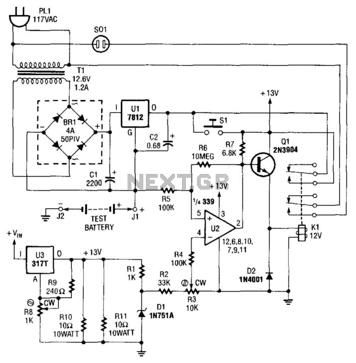 Nicad Battery Tester - schematic