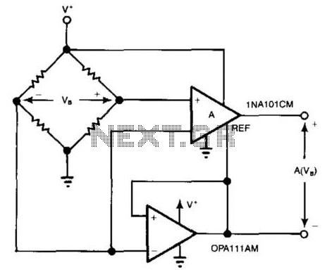 Bridge Circuit With One Power Supply - schematic