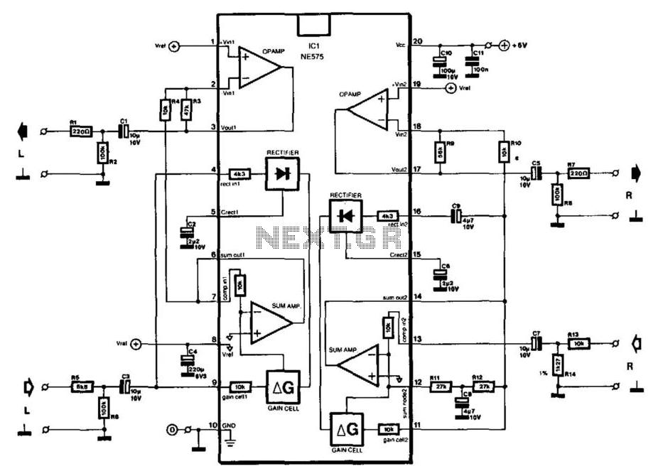 Universal Compander - schematic
