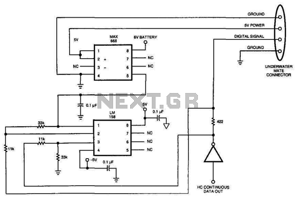 Data Line Remote Short Sensor - schematic