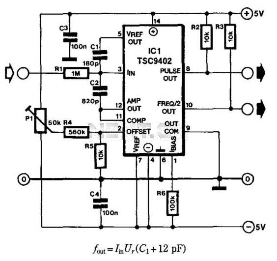 Current-To-Frequency Converter - schematic