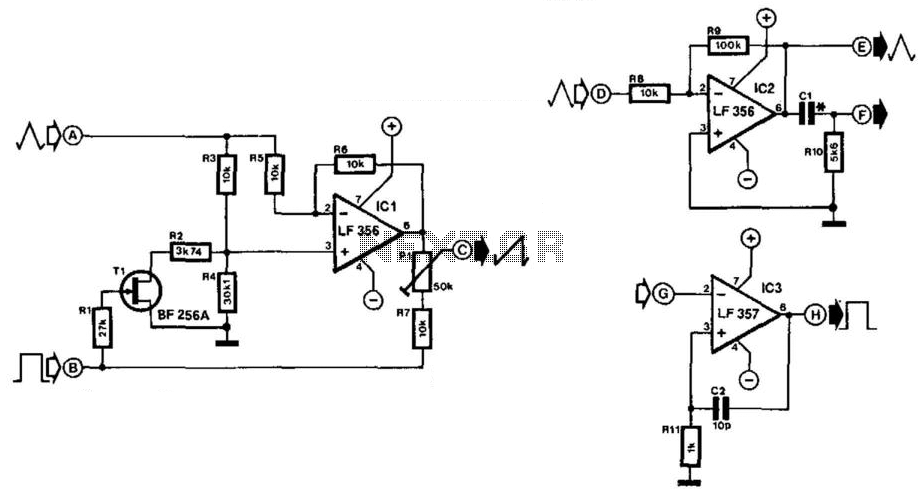 Sawtooth Converter - schematic