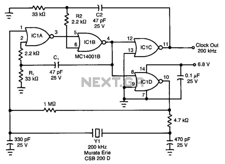 Micropower Clock - schematic