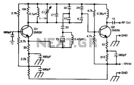 100Mhz Overtone Oscillator - schematic