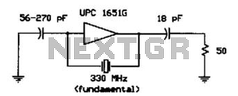 330Mhz Crystal Oscillator - schematic