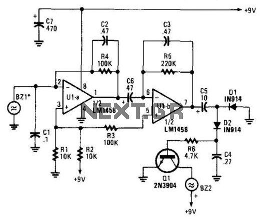 Air-Pressure Change Detector - schematic