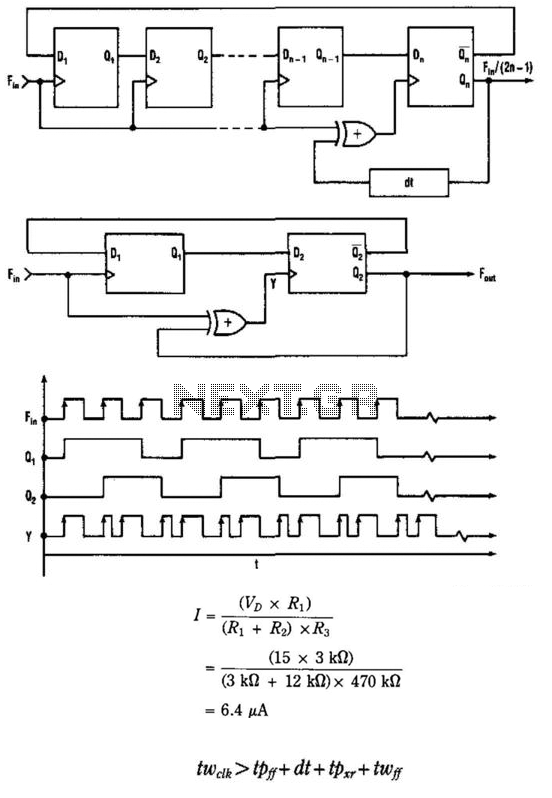 Clock Input Frequency Divider - schematic