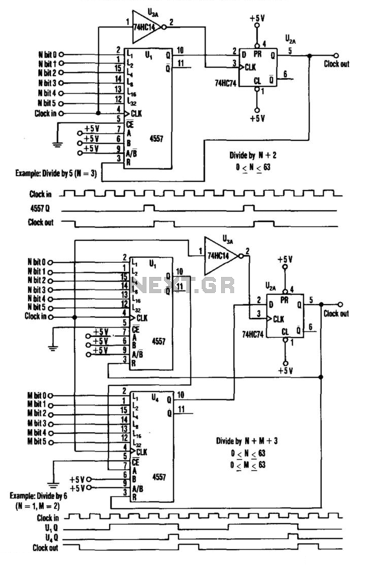 Programmable Frequency Divider - schematic
