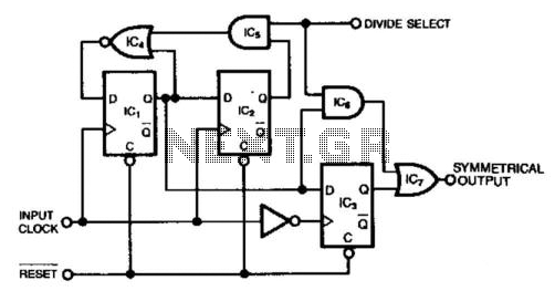 Divide-By-2-Or-3 Circuit - schematic
