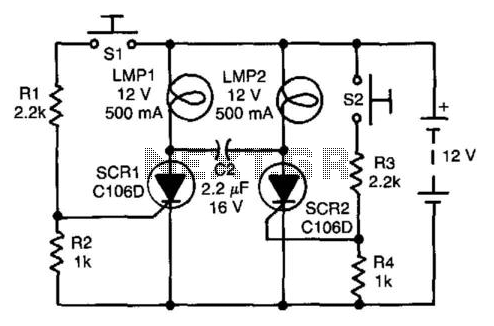 Flip-Flop Independent Lamp Driver - schematic