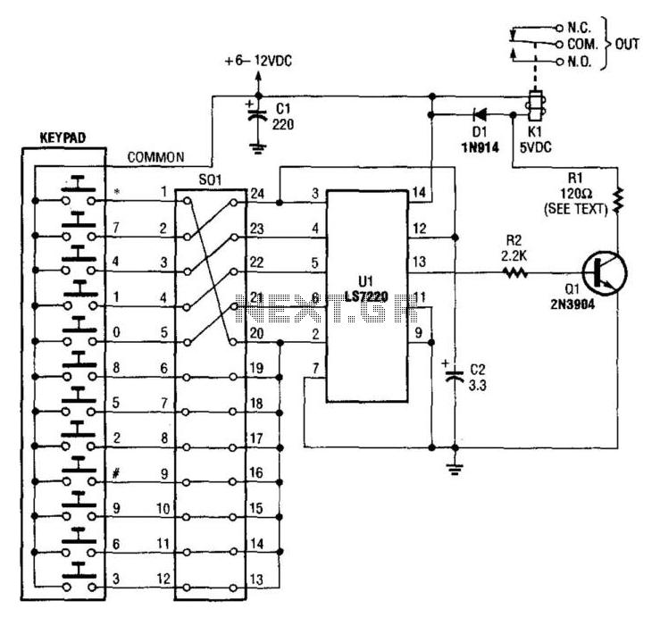 Digital Entry Lock - schematic