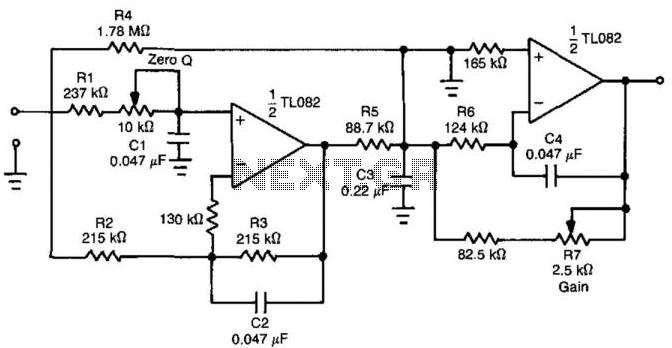 fast-response  settling  low-pass filter under audio filters circuits