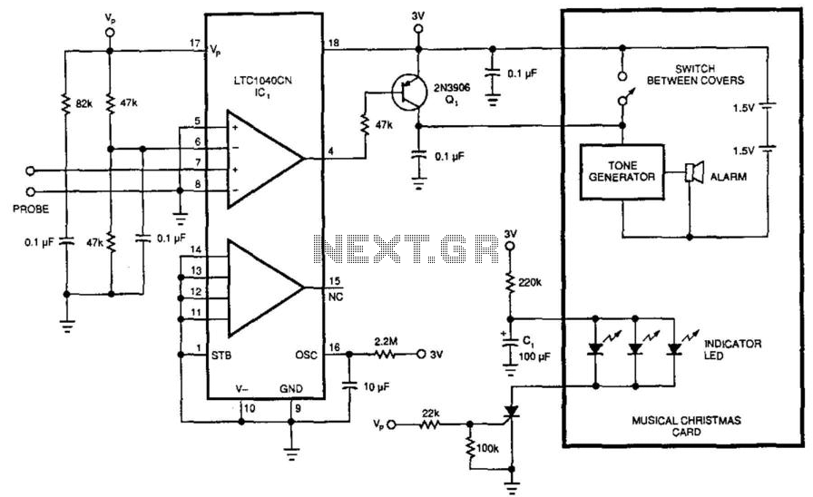 3V Water-Level Detector - schematic