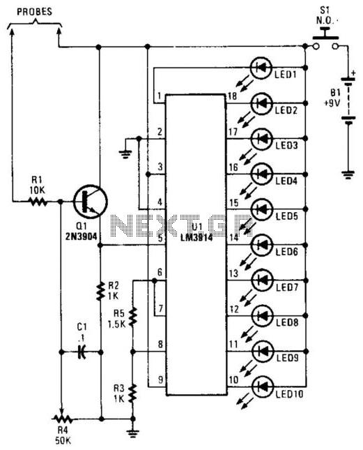 Moisture Detector - schematic