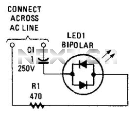 Ac Circuit Led Power Indicator - schematic