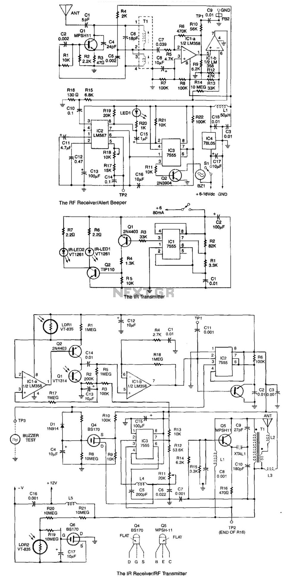 Wireless Ir Security System - schematic