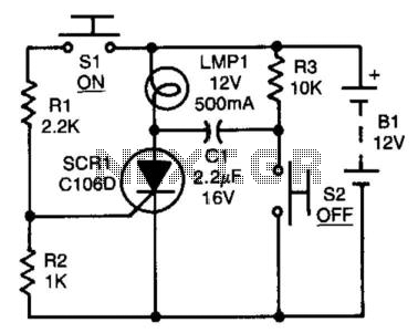 Scr Capacitor Turn-Off Circuit - schematic