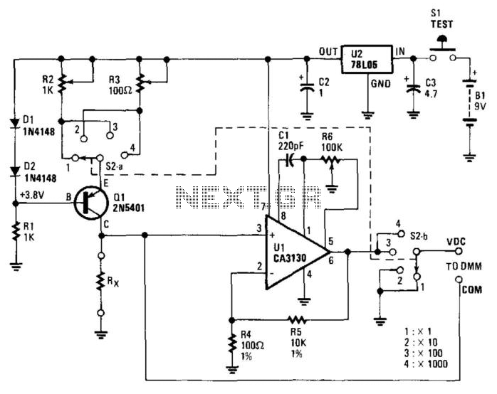 Low-Ohms Adapter - schematic
