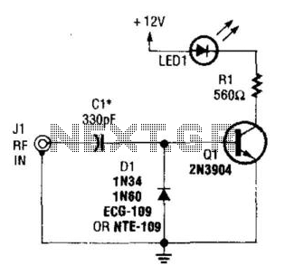 Rf Output Indicator - schematic