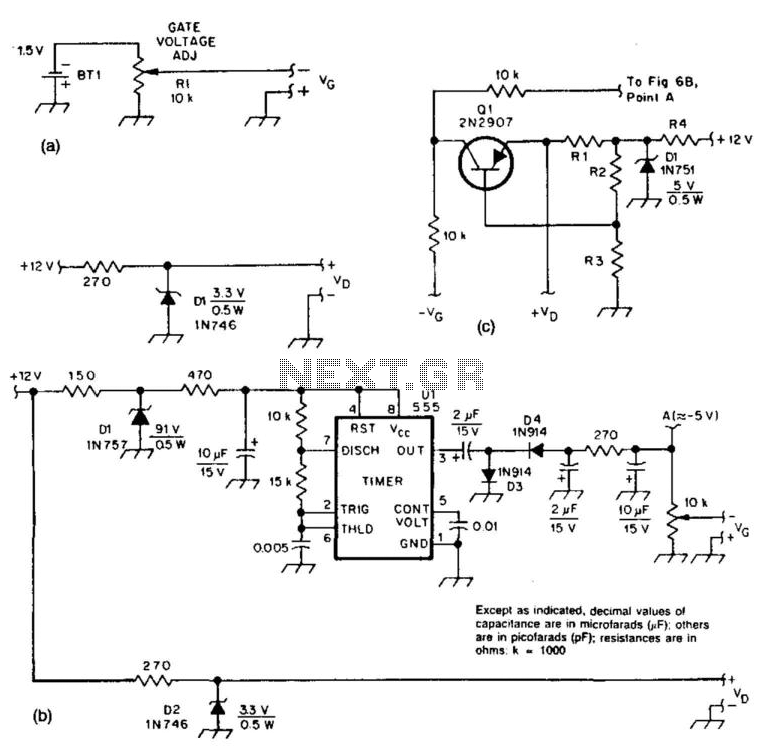 Bias Supply For Microwave Preamps - schematic