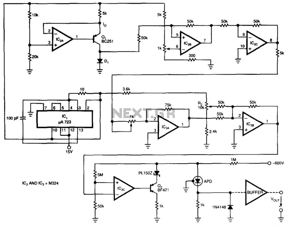 Diode Sensor For Lasers - schematic