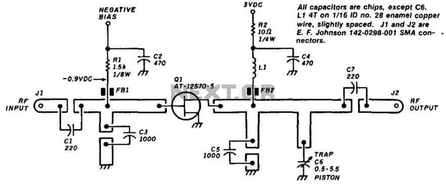 Gasfet Frequency Doubler - schematic