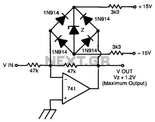Fast Symmetrical Zener Clipper - schematic