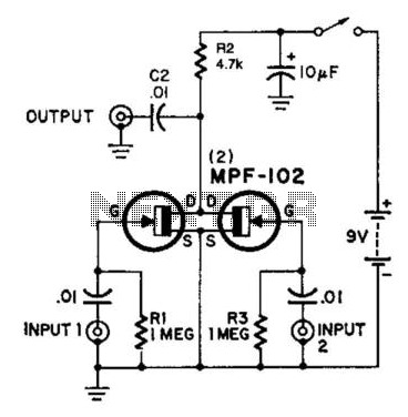 Simple Utility Mixer - schematic