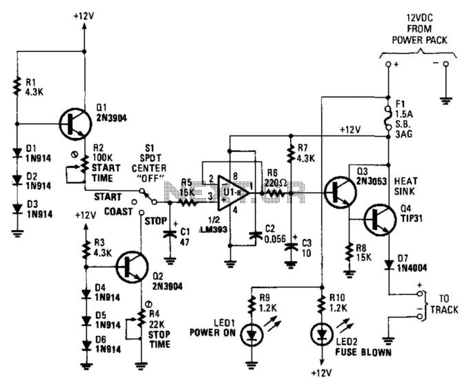 Model Train Throttle Control - schematic