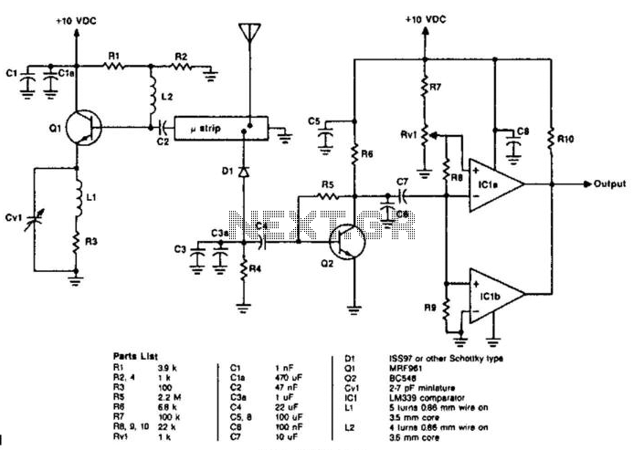 Uhf Motion Detector - schematic