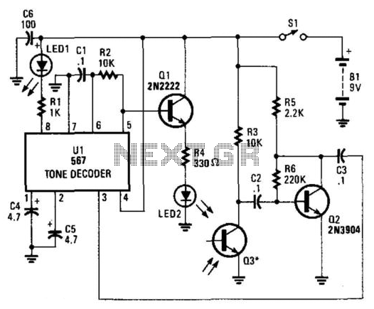 Ir Reflection Proximity Switch - schematic