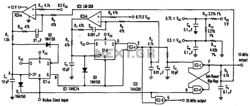 Phase-Locked 20-Mhz Oscillator - schematic