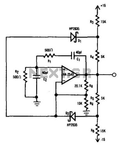 Wien-Bridge Oscillator - schematic