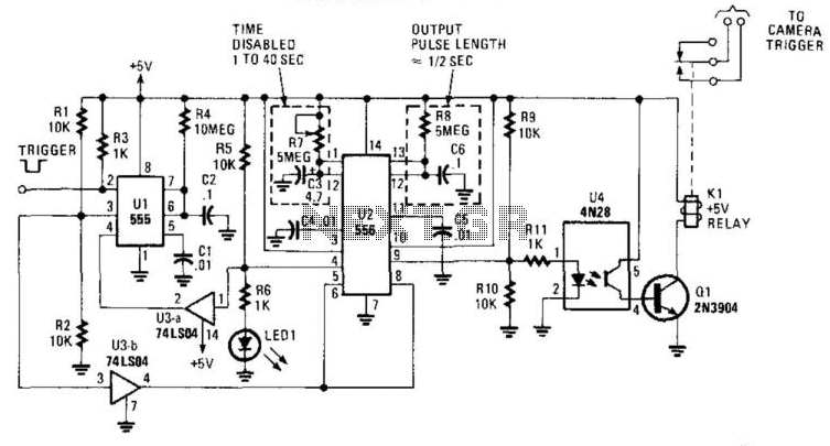 Camera Trip Circuit - schematic