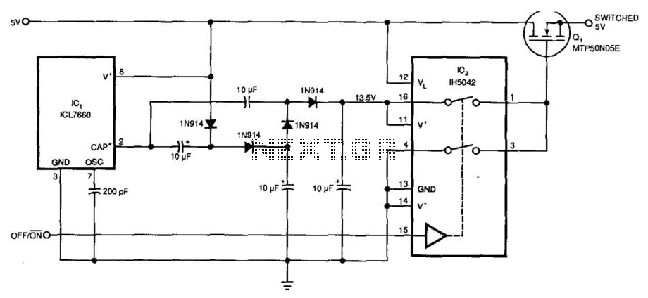 5V Supply High-Side Switcher - schematic