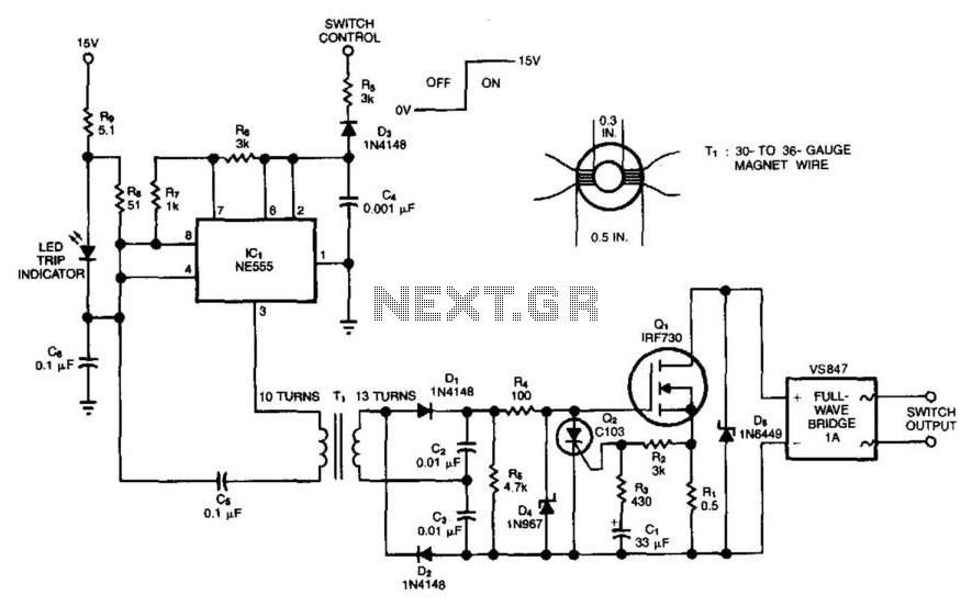 Power Mosfet Switch - schematic