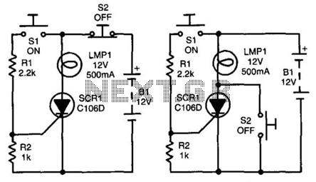 Pushbutton-Controlled Power Switch - schematic
