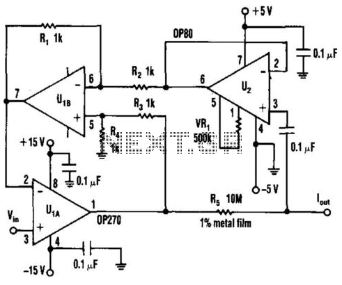 Precise Low-Current Source - schematic