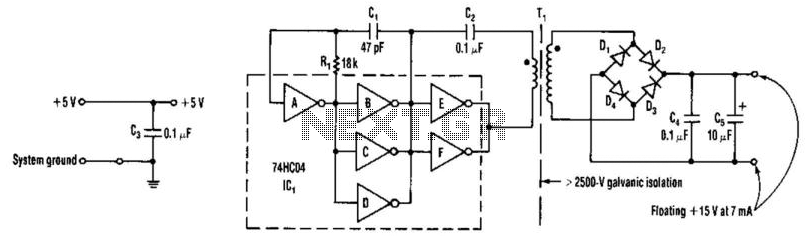 Isolated 15V To 2500V Supply - schematic