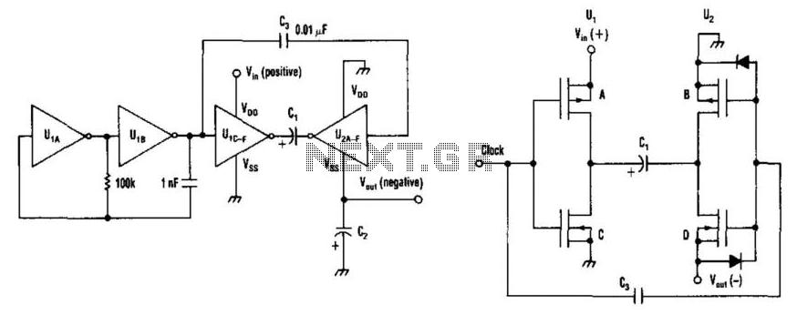 Get Negative Rail With Cmos Gates - schematic