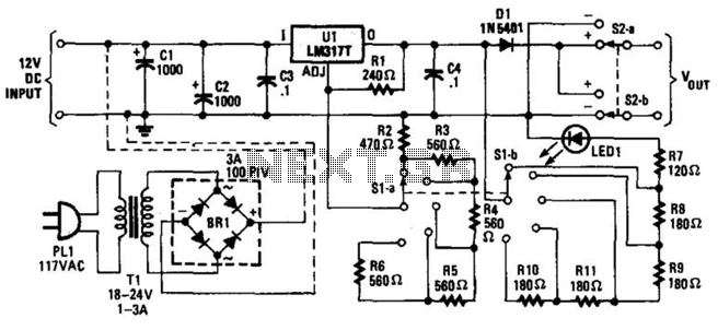 Step Variable Dc Supply - schematic
