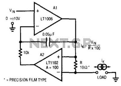 Voltage-Programmable Current Source - schematic