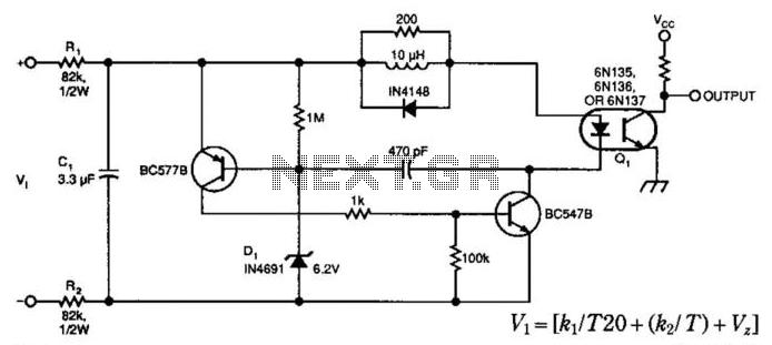 Isolated Voltage Sensor - schematic