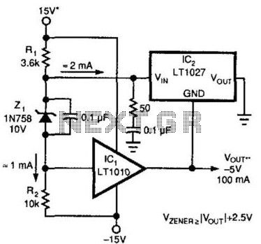 Power Buffer Boosts Reference Current - schematic