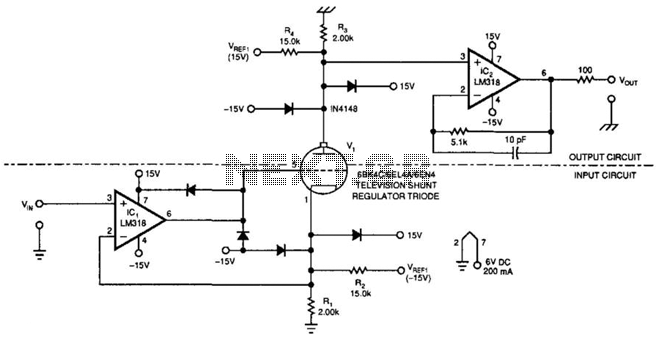 Tube Amplifier Isolates High Voltages - schematic