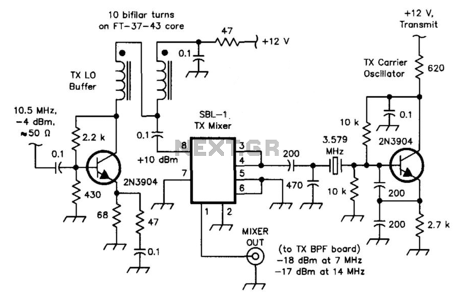 Hf Transceiver Mixer - schematic
