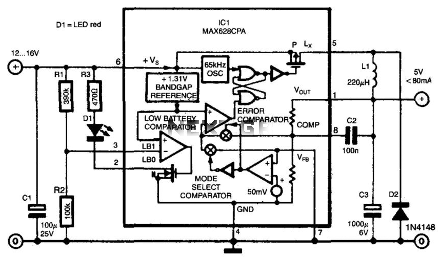 Switch Mode Voltage Regulator Under Switching Power Supply Circuits