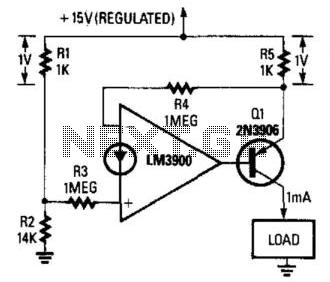 Fixed-Current Regulator - schematic